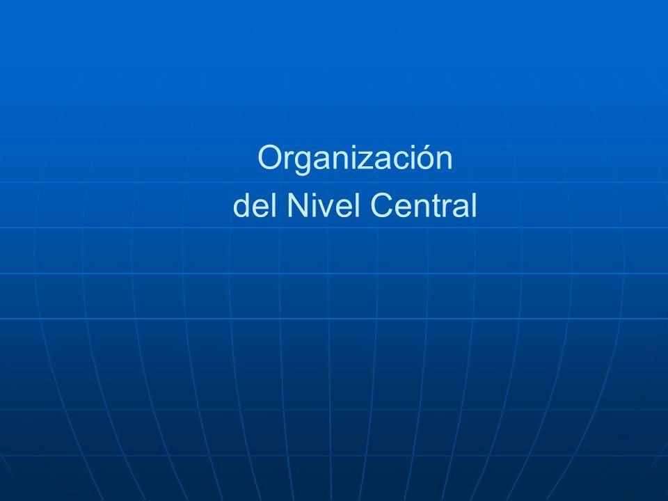 Organización del Nivel Central