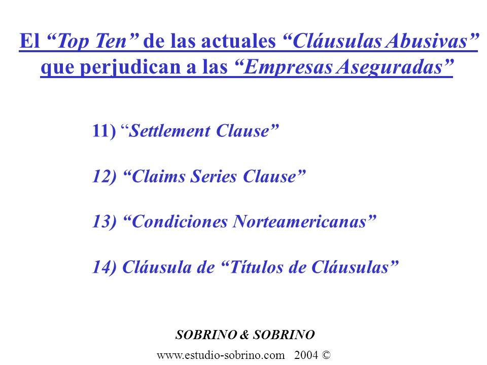 El Top Ten de las actuales Cláusulas Abusivas