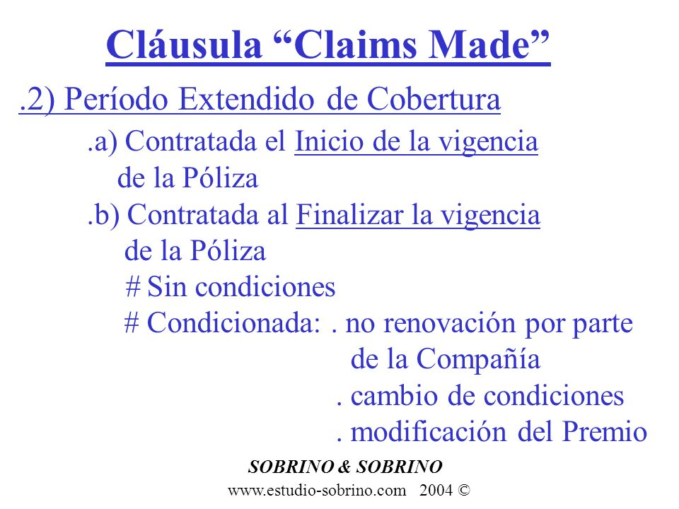 Cláusula Claims Made