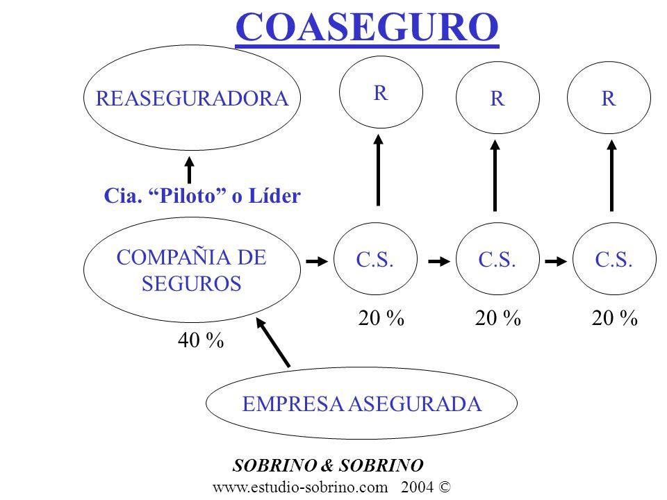 COASEGURO REASEGURADORA R R R Cia. Piloto o Líder COMPAÑIA DE