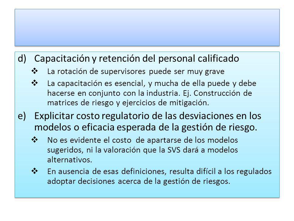 Capacitación y retención del personal calificado