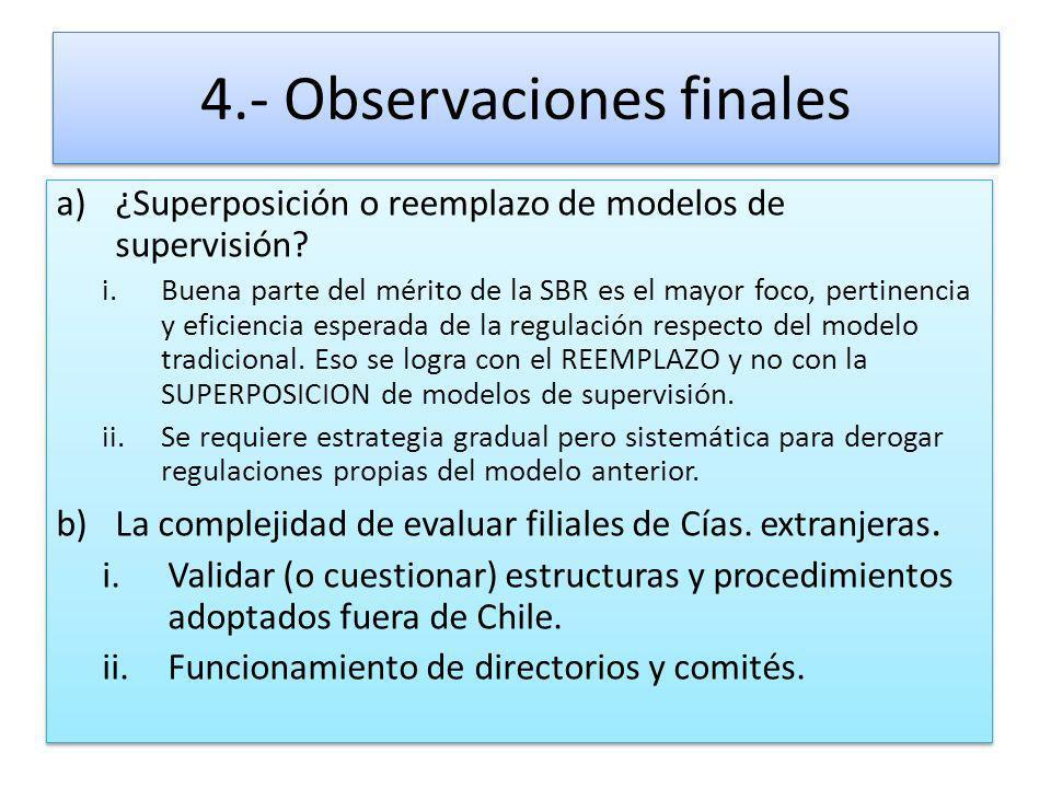4.- Observaciones finales