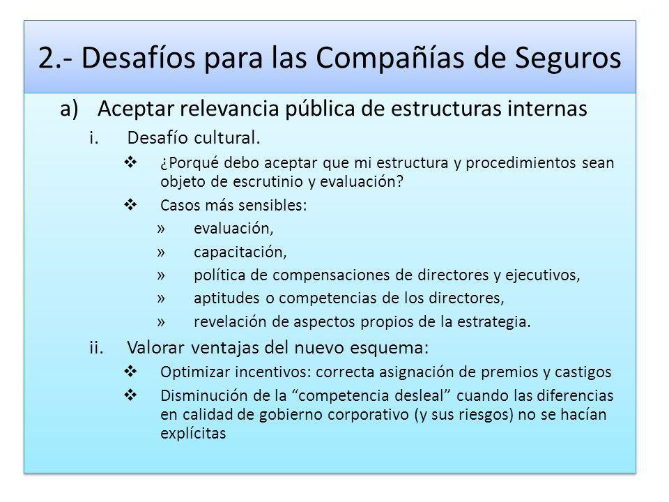 2.- Desafíos para las Compañías de Seguros