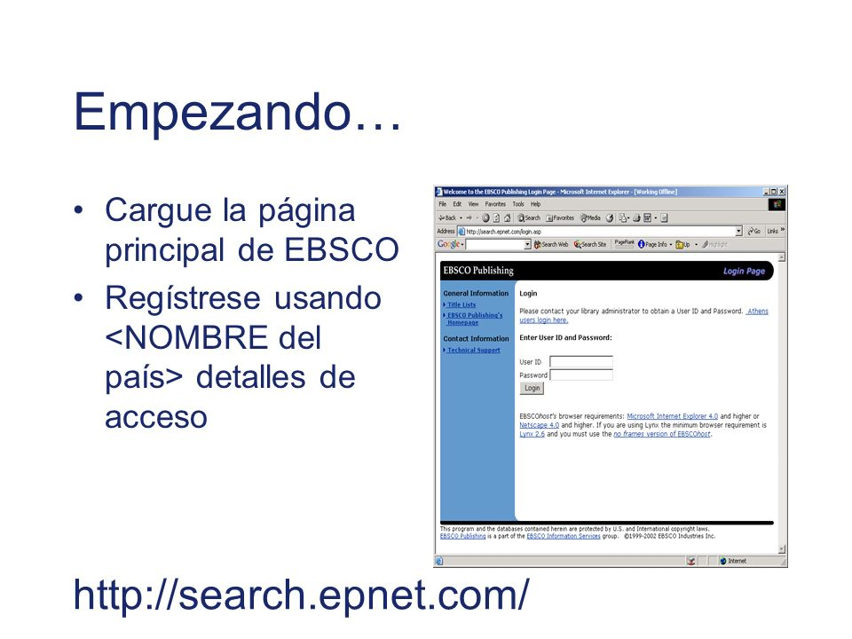 Empezando… http://search.epnet.com/