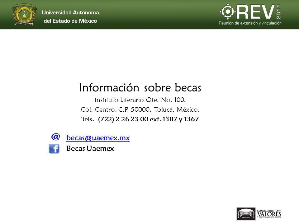 Información sobre becas