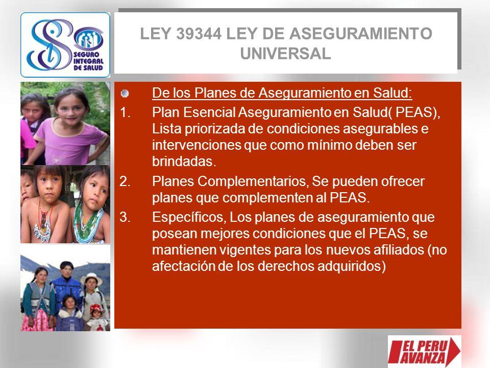LEY 39344 LEY DE ASEGURAMIENTO UNIVERSAL