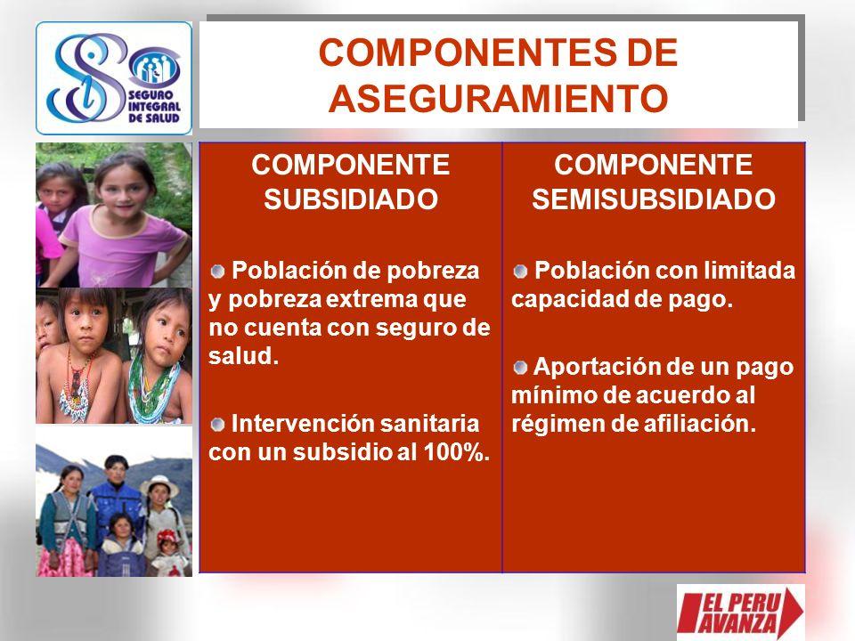 COMPONENTES DE ASEGURAMIENTO