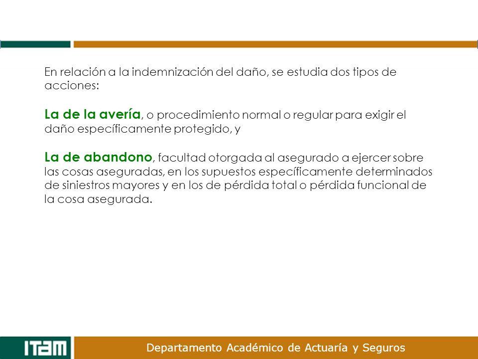 En relación a la indemnización del daño, se estudia dos tipos de acciones:
