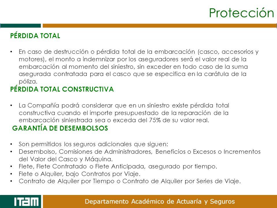 Protección PÉRDIDA TOTAL PÉRDIDA TOTAL CONSTRUCTIVA