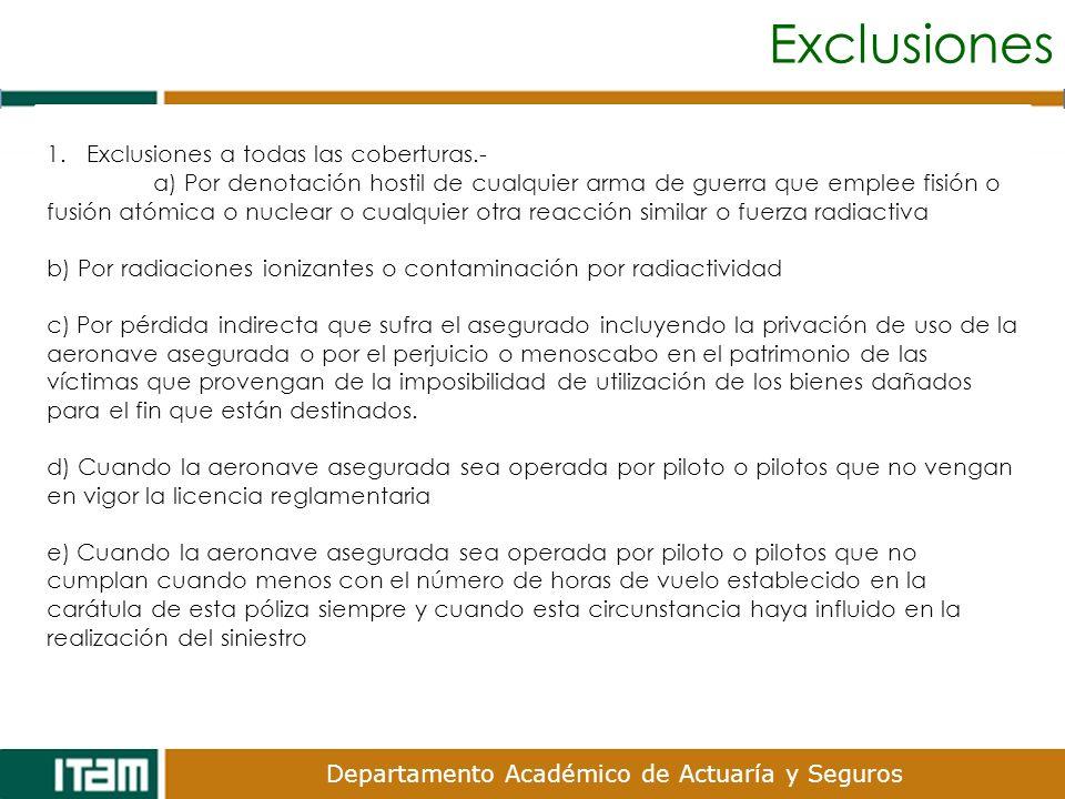 Exclusiones Exclusiones a todas las coberturas.-