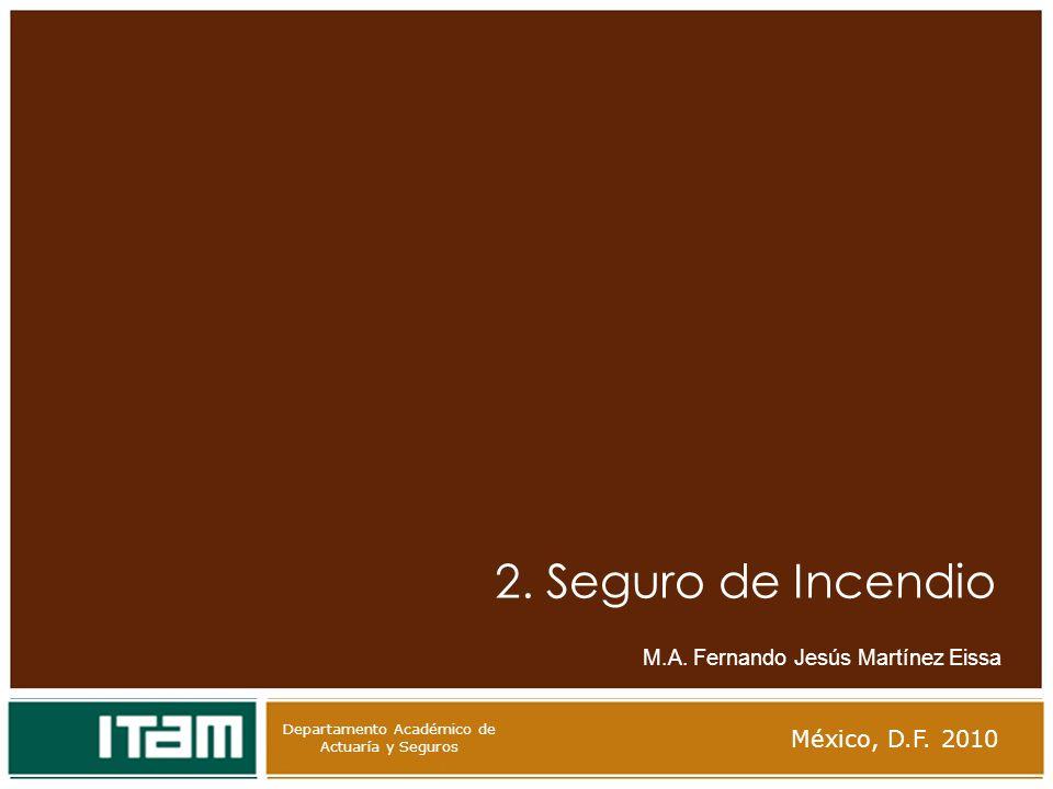 2. Seguro de Incendio México, D.F. 2010