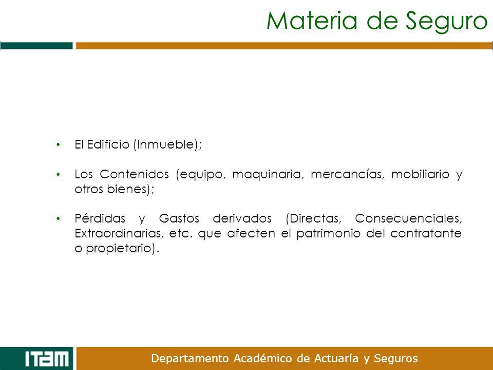 Materia de Seguro El Edificio (Inmueble);