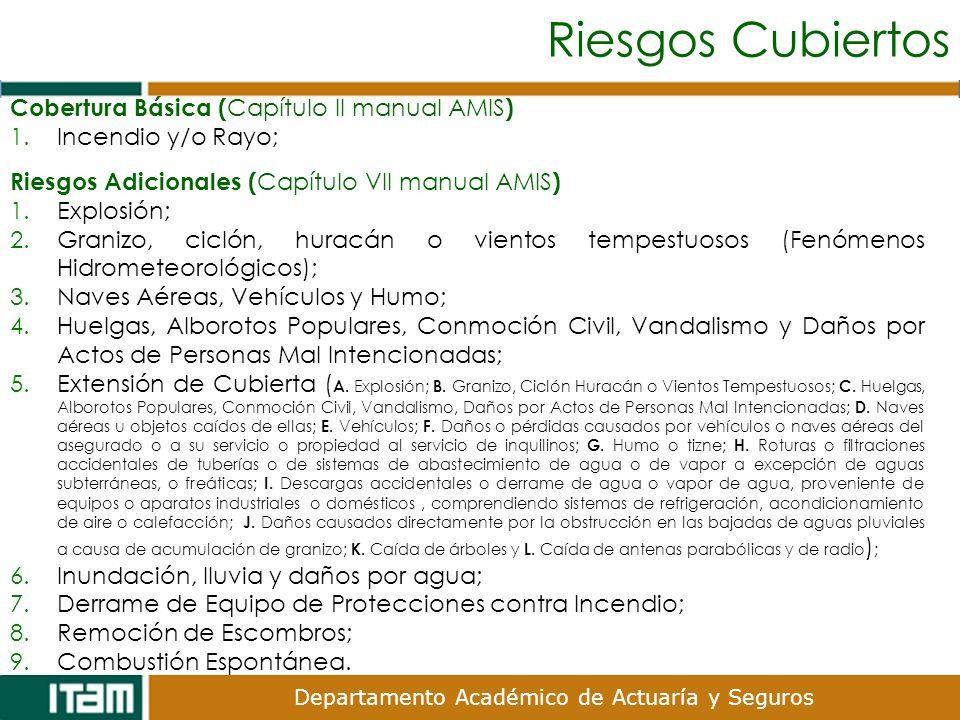 Riesgos Cubiertos Cobertura Básica (Capítulo II manual AMIS)