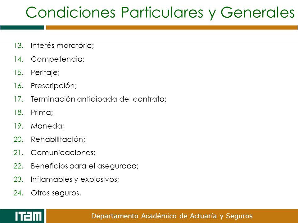 Condiciones Particulares y Generales