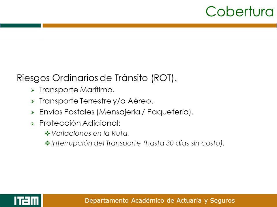 Cobertura Riesgos Ordinarios de Tránsito (ROT). Transporte Marítimo.
