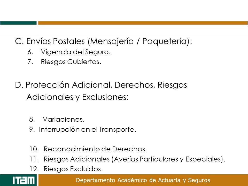 C. Envíos Postales (Mensajería / Paquetería):