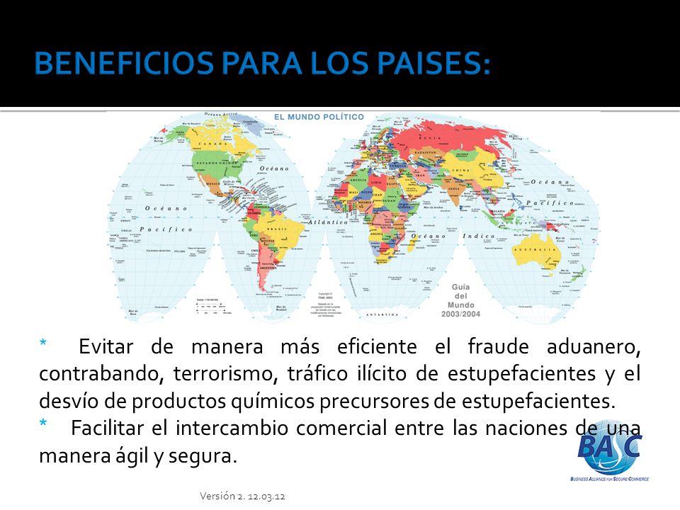 BENEFICIOS PARA LOS PAISES: