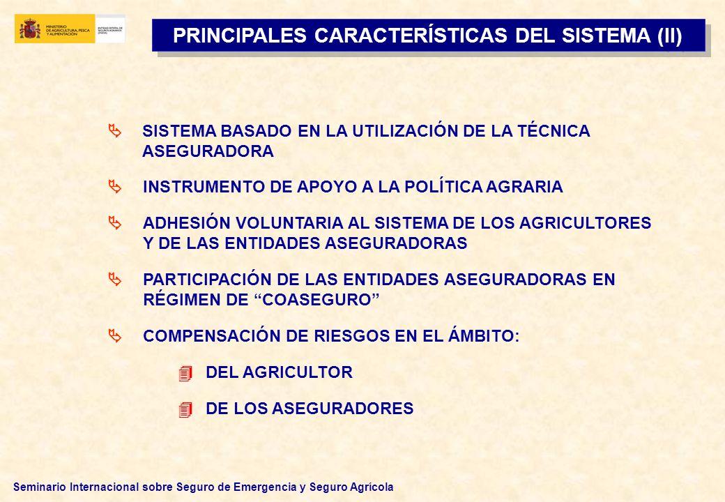 PRINCIPALES CARACTERÍSTICAS DEL SISTEMA (II)