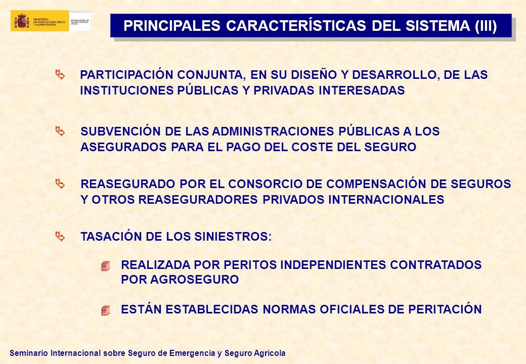 PRINCIPALES CARACTERÍSTICAS DEL SISTEMA (III)