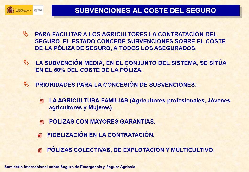 SUBVENCIONES AL COSTE DEL SEGURO