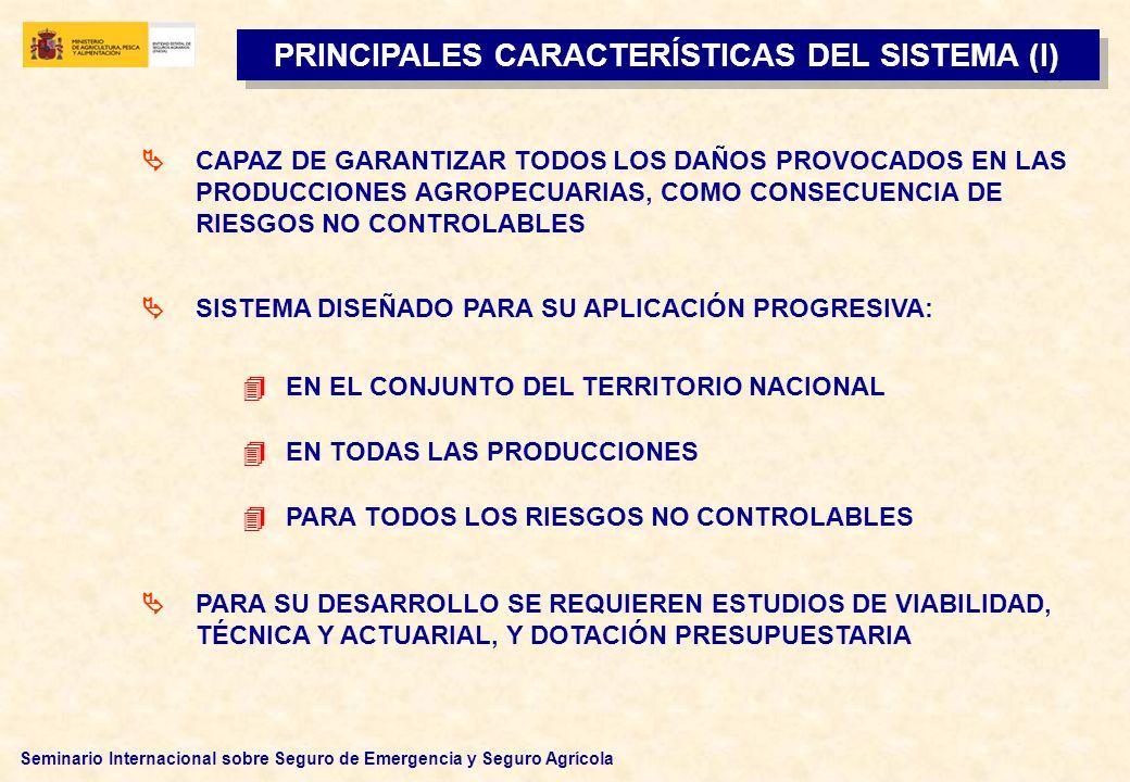 PRINCIPALES CARACTERÍSTICAS DEL SISTEMA (I)