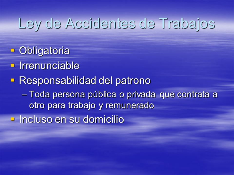 Ley de Accidentes de Trabajos