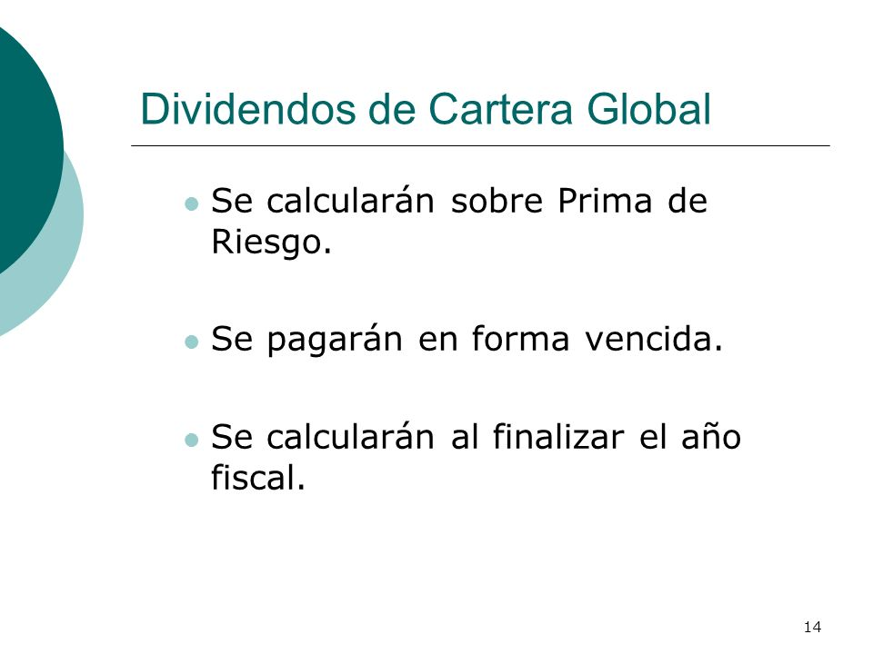 Dividendos de Cartera Global