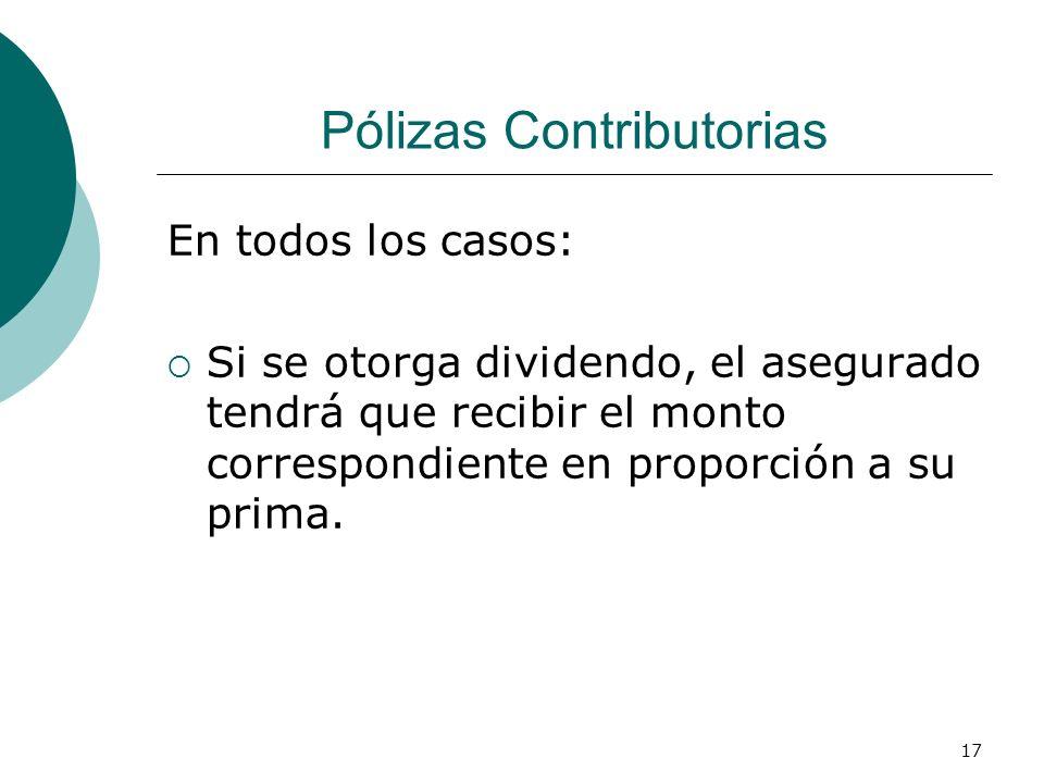 Pólizas Contributorias