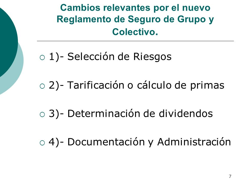 1)- Selección de Riesgos 2)- Tarificación o cálculo de primas