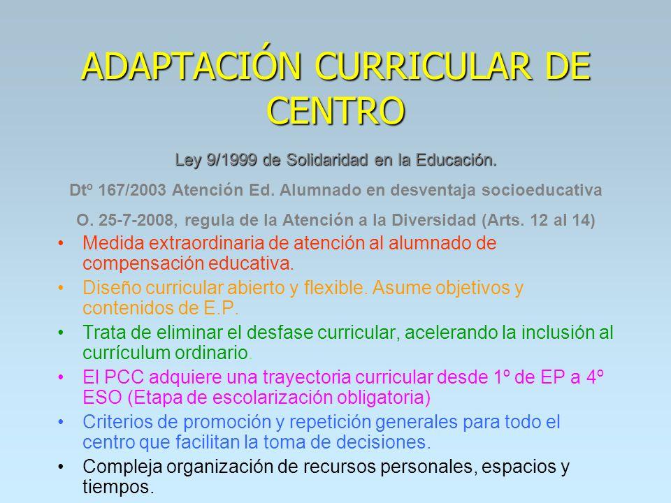 ADAPTACIÓN CURRICULAR DE CENTRO