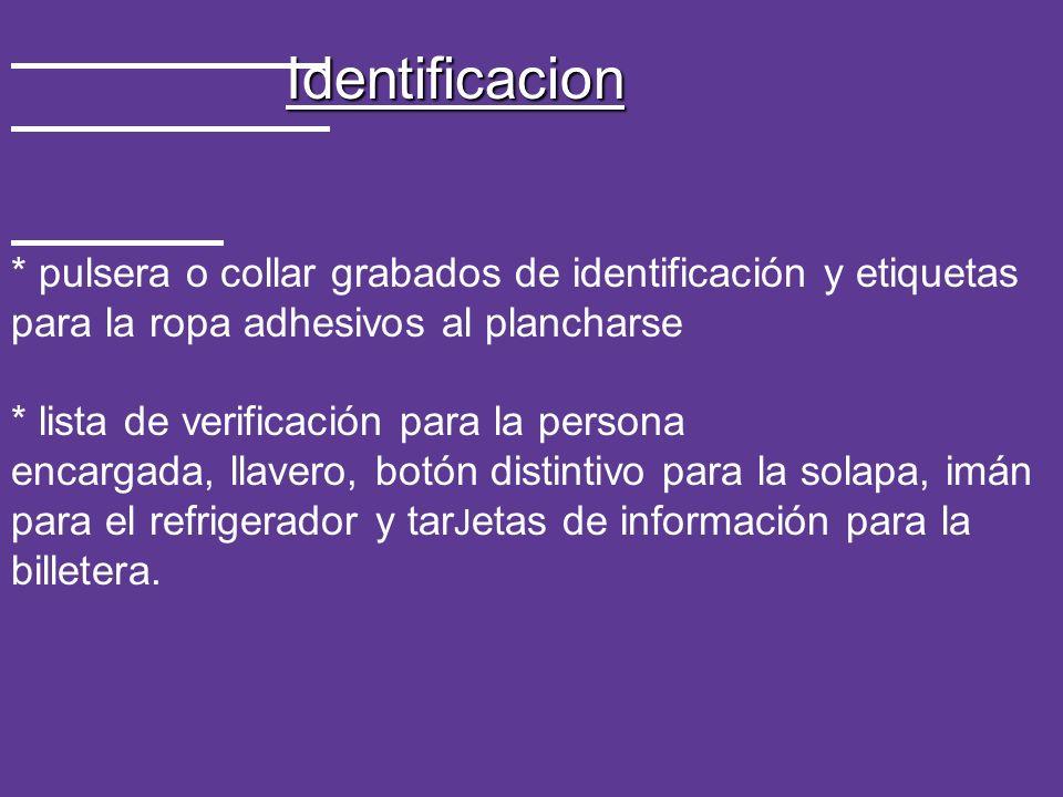 * pulsera o collar grabados de identificación y etiquetas para la ropa adhesivos al plancharse