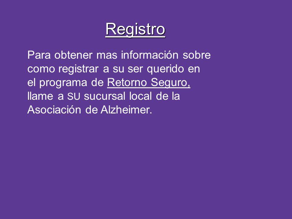 Registro Para obtener mas información sobre