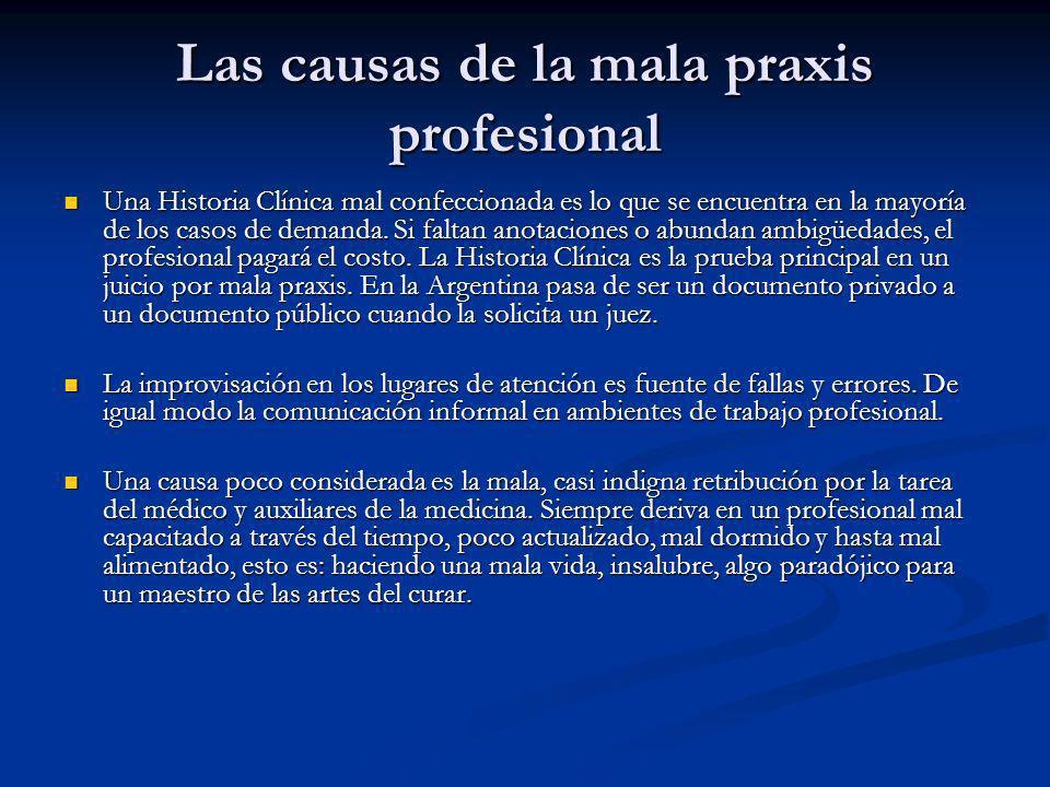 Las causas de la mala praxis profesional