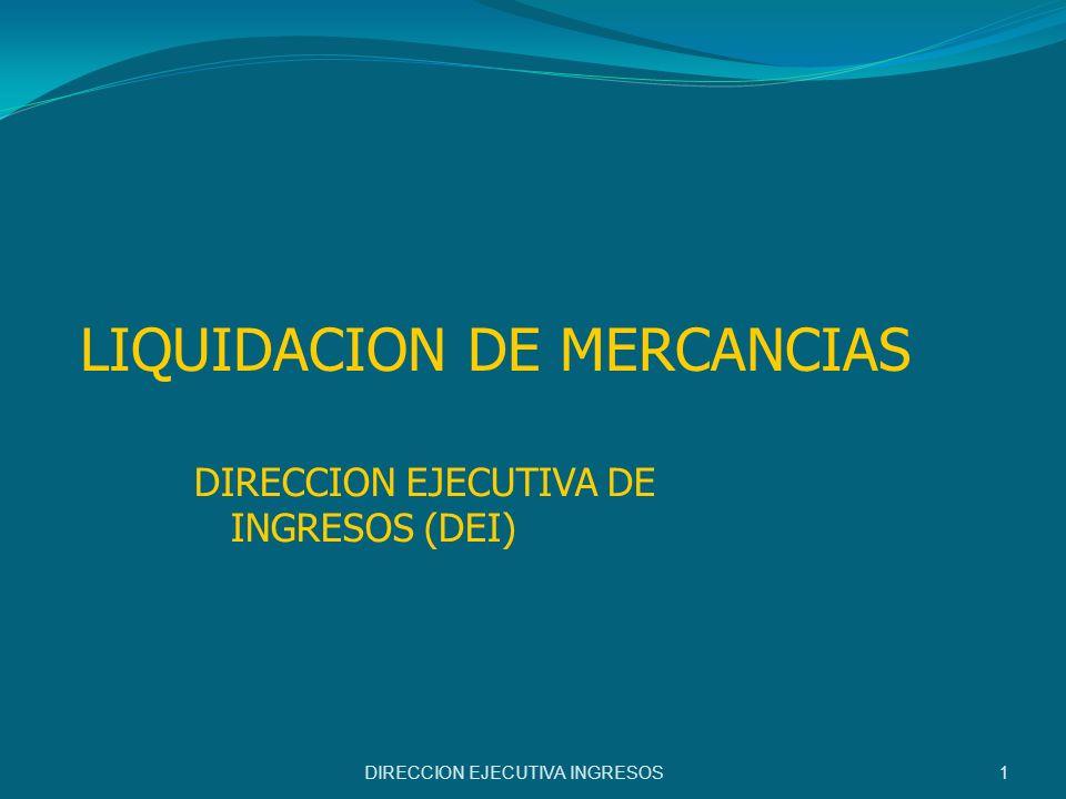 LIQUIDACION DE MERCANCIAS