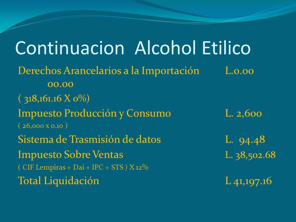 Continuacion Alcohol Etilico