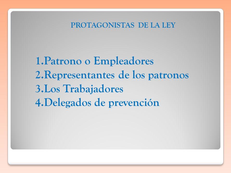 PROTAGONISTAS DE LA LEY