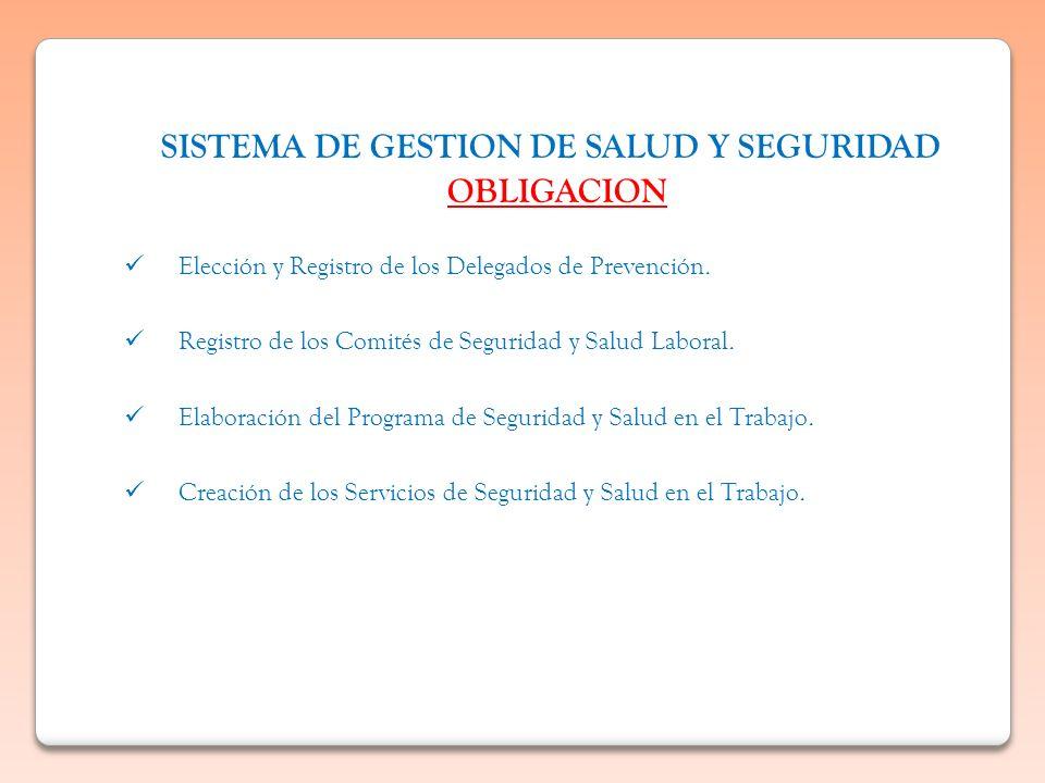 SISTEMA DE GESTION DE SALUD Y SEGURIDAD OBLIGACION
