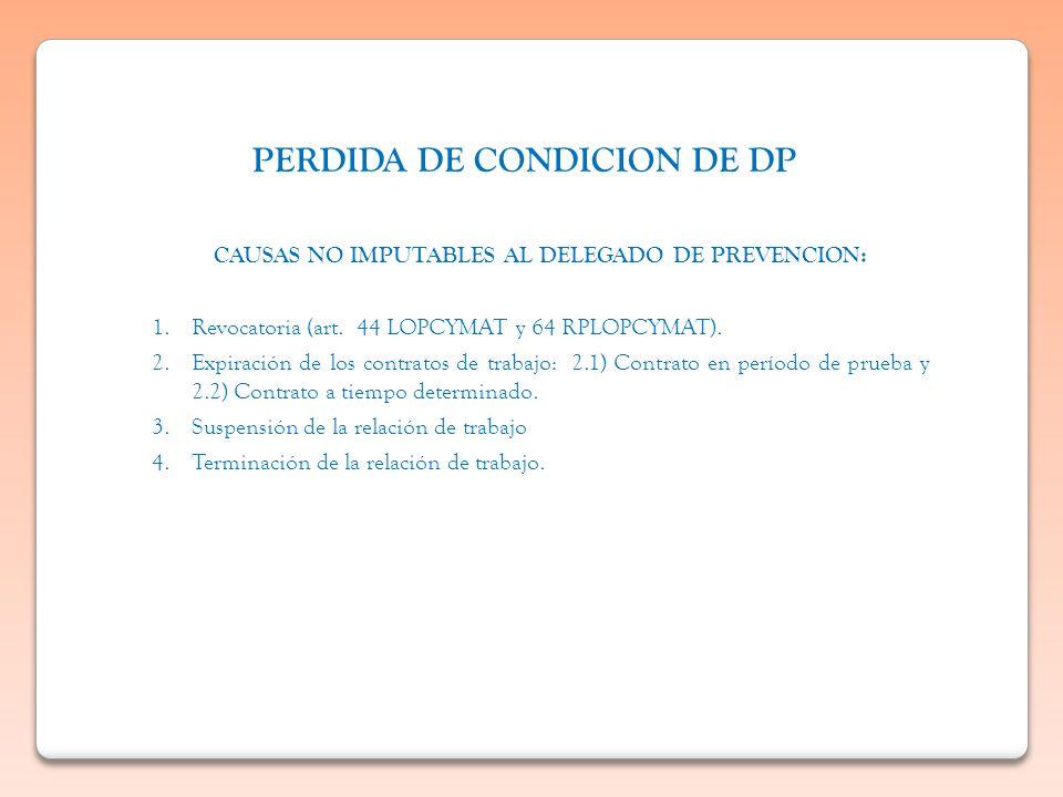 PERDIDA DE CONDICION DE DP