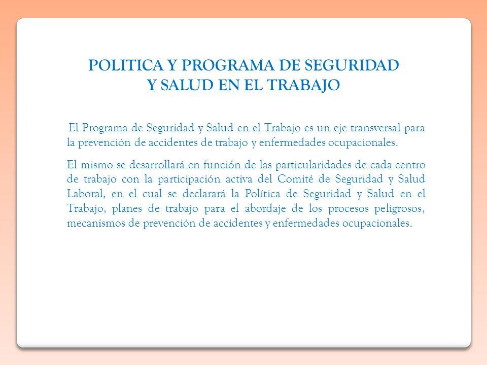 POLITICA Y PROGRAMA DE SEGURIDAD