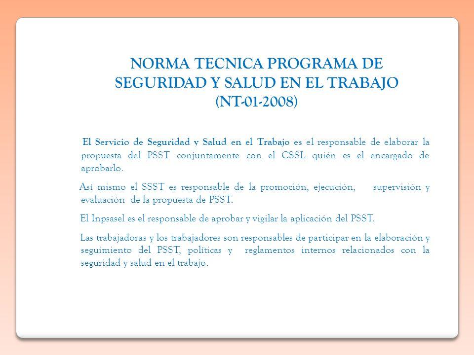 NORMA TECNICA PROGRAMA DE SEGURIDAD Y SALUD EN EL TRABAJO