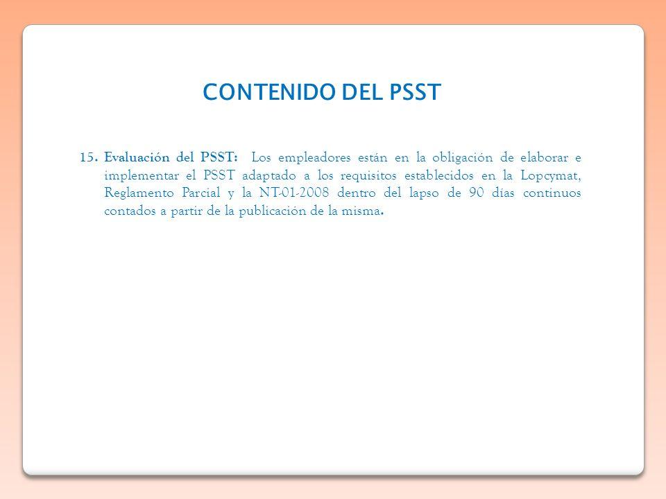 CONTENIDO DEL PSST