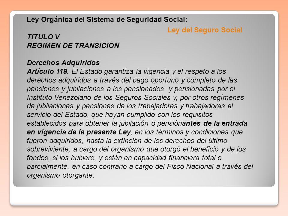 Ley Orgánica del Sistema de Seguridad Social: