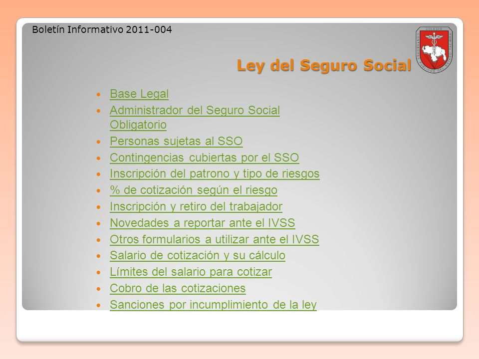 Ley del Seguro Social Base Legal