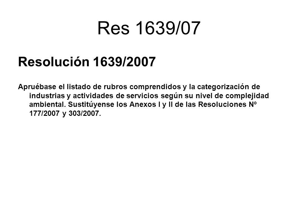 Res 1639/07 Resolución 1639/2007.