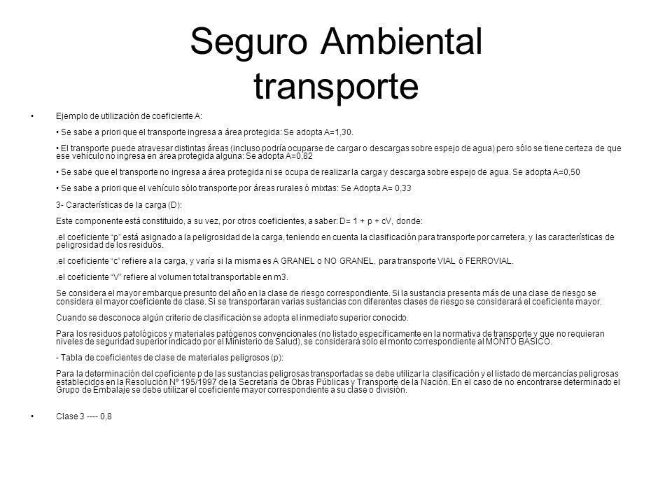 Seguro Ambiental transporte
