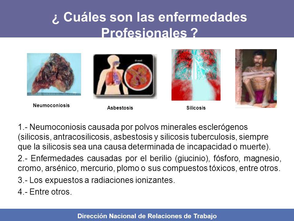 ¿ Cuáles son las enfermedades Profesionales