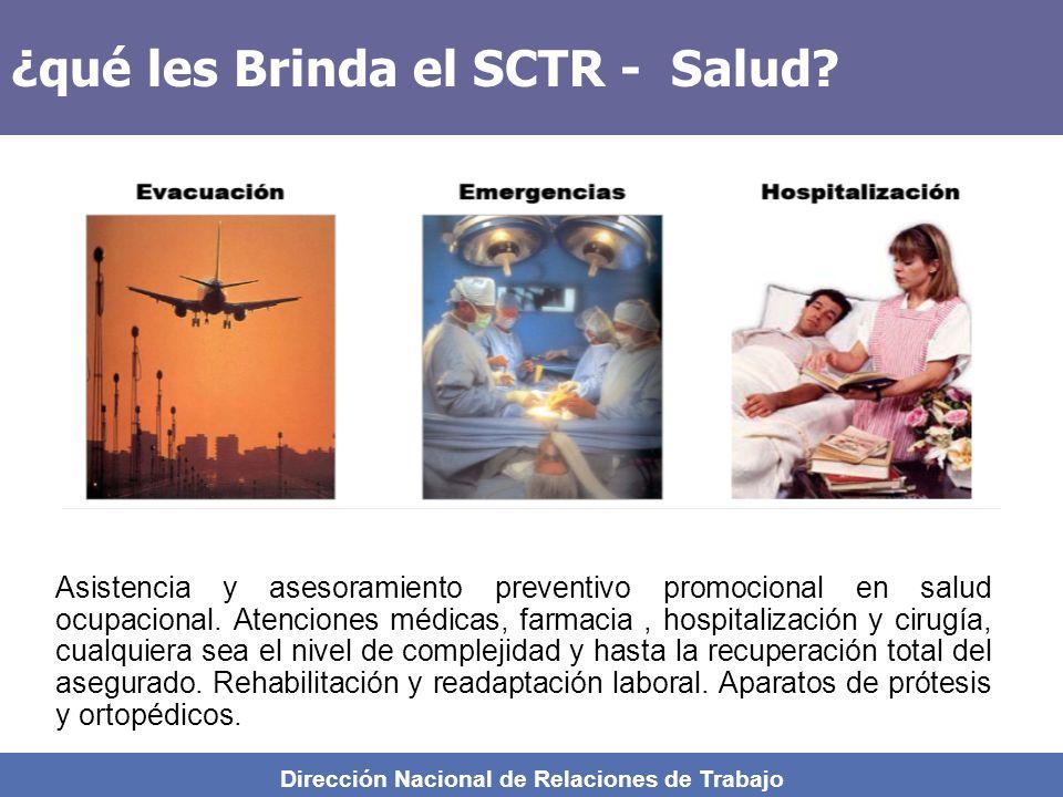 ¿qué les Brinda el SCTR - Salud