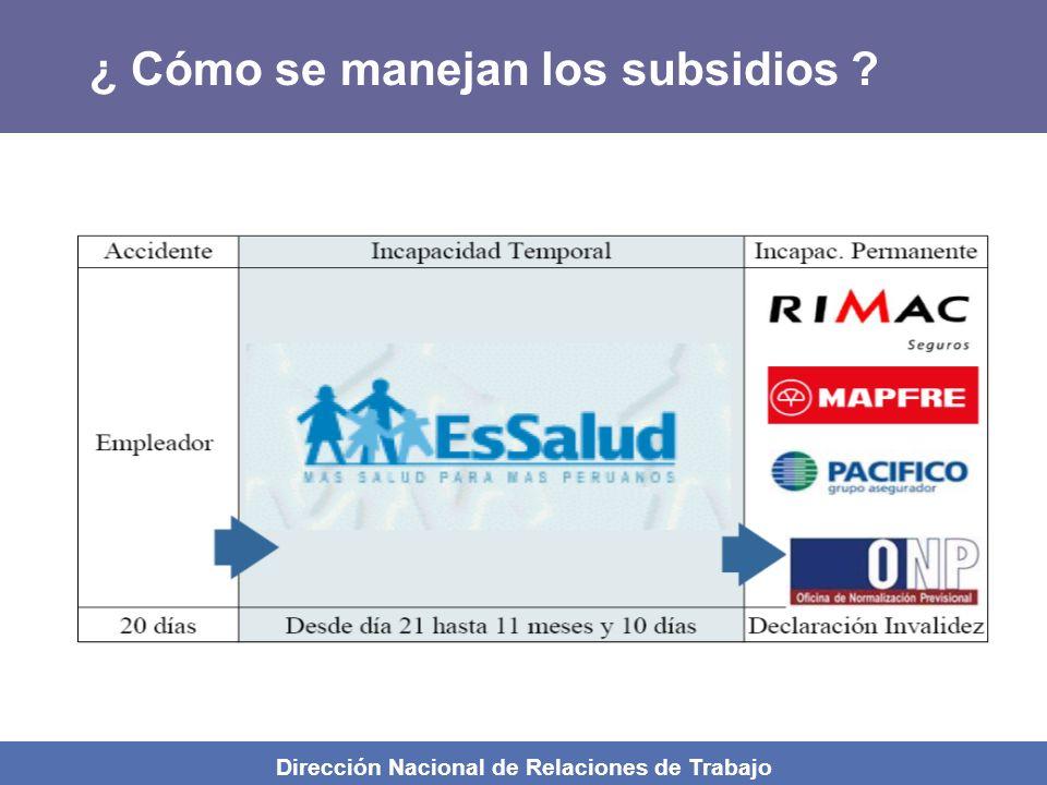 ¿ Cómo se manejan los subsidios