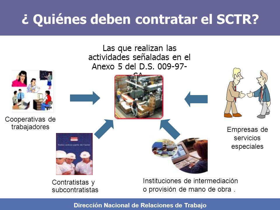 ¿ Quiénes deben contratar el SCTR