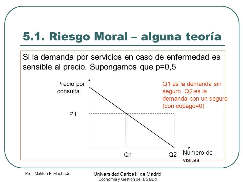 5.1. Riesgo Moral – alguna teoría